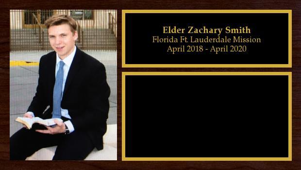 April 2018 to April 2020<br/>Elder Zachary Smith