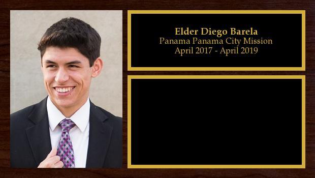 April 2017 to April 2019<br/>Elder Diego Barela
