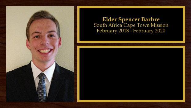February 2018 to February 2020<br/>Elder Spencer Barbre