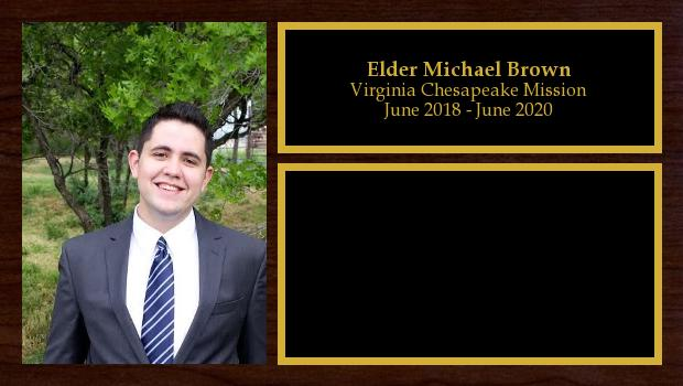 June 2018 to June 2020<br/>Elder Michael Brown