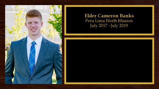 July 2017 to July 2019<br/>Elder Cameron Banks