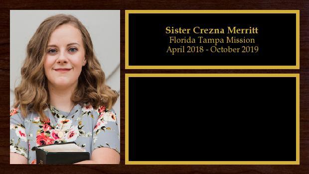 April 2018 to October 2019<br/>Sister Crezna Merritt