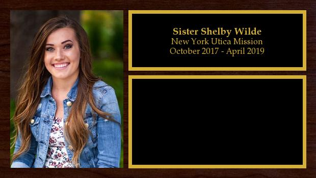 October 2017 to April 2019<br/>Sister Shelby Wilde
