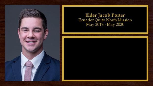May 2018 to May 2020<br/>Elder Jacob Porter