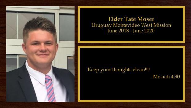 June 2018 to June 2020<br/>Elder Tate Moser