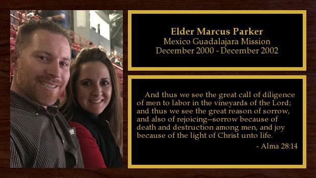 December 2000 to December 2002<br/>Elder Marcus Parker