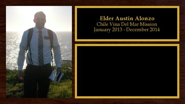 January 2013 to December 2014<br/>Elder Austin Alonzo
