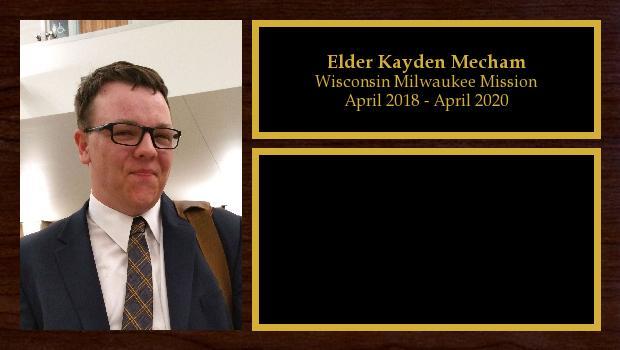 April 2018 to April 2020<br/>Elder Kayden Mecham