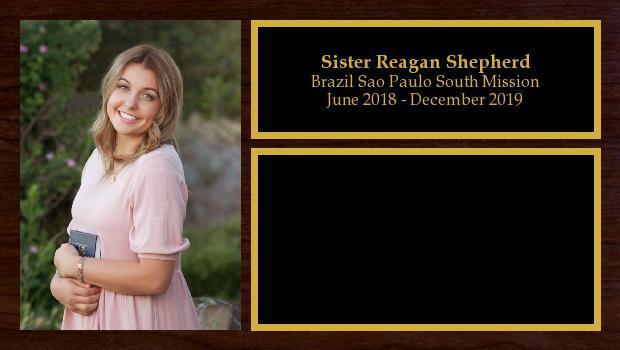 June 2018 to December 2019<br/>Sister Reagan Shepherd