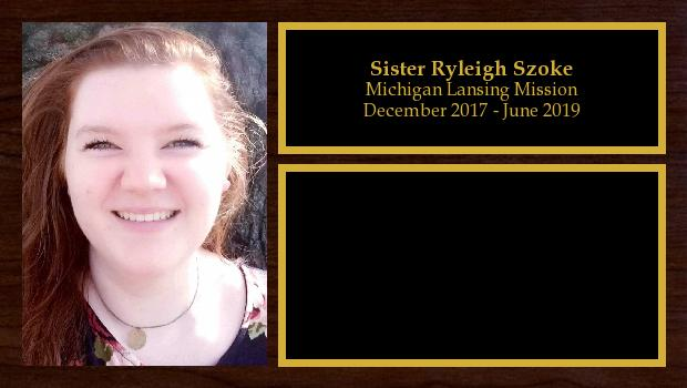 December 2017 to May 2019<br/>Sister Ryleigh Szoke