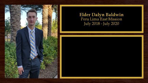 July 2018 to July 2020<br/>Elder Dalyn Baldwin