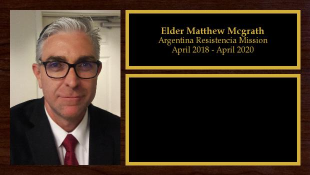 April 2018 to April 2020<br/>Elder Matthew Mcgrath