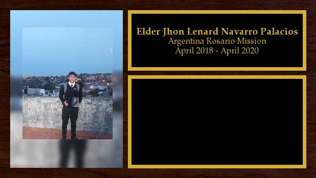 April 2018 to April 2020<br/>Elder Jhon Lenard Navarro Palacios