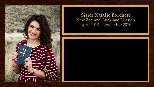 April 2018 to November 2019<br/>Sister Natalie Borchert