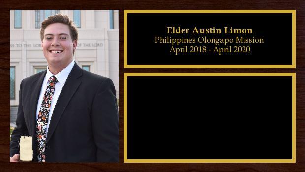 April 2018 to April 2020<br/>Elder Austin Limon