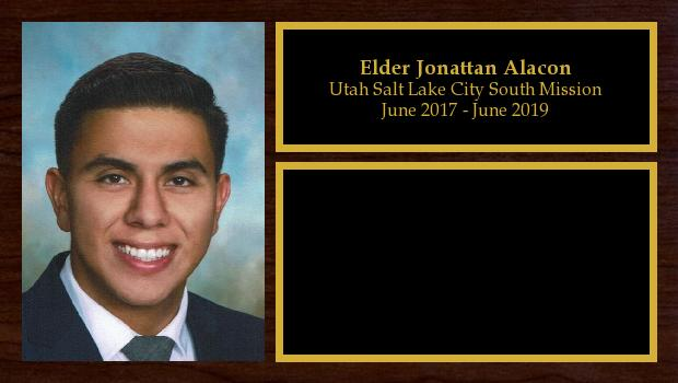 June 2017 to June 2019<br/>Elder Jonattan Alarcon