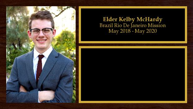 May 2018 to May 2020<br/>Elder Kelby McHardy