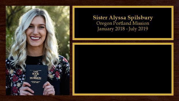 January 2018 to July 2019<br/>Sister Alyssa Spilsbury