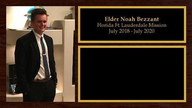 July 2018 to July 2020<br/>Elder Noah Bezzant