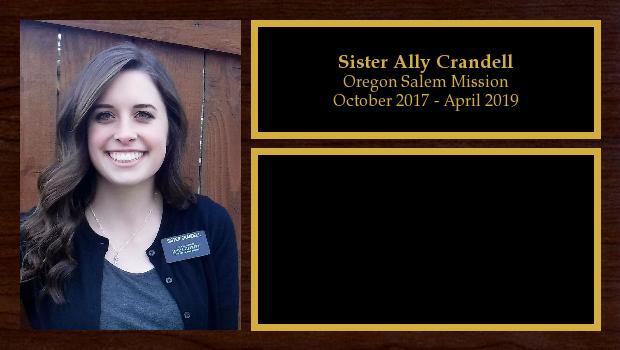 October 2017 to April 2019<br/>Sister Ally Crandell