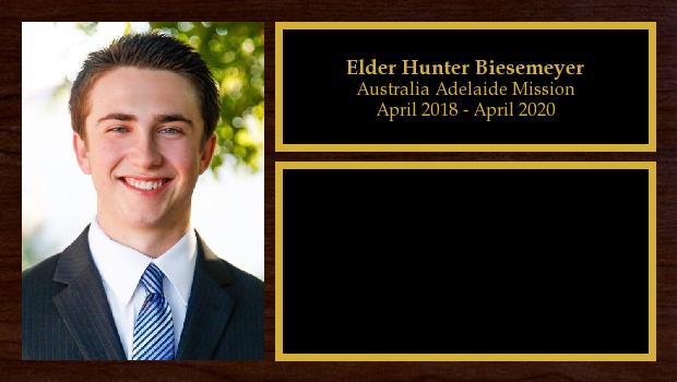 April 2018 to April 2020<br/>Elder Hunter Biesemeyer
