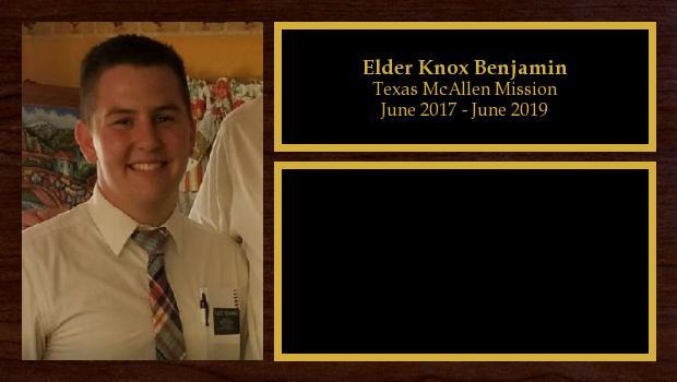 June 2017 to June 2019<br/>Elder Knox Benjamin