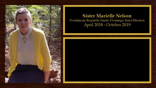 April 2018 to October 2019<br/>Sister Marielle Nelson