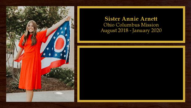 August 2018 to January 2020<br/>Sister Annie Arnett