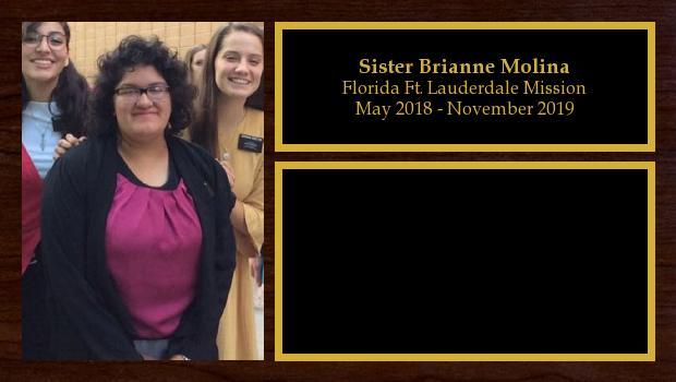 May 2018 to November 2019<br/>Sister Brianne Molina