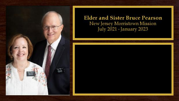July 2018 to January 2020<br/>Elder Bruce and Sister Leslie Pearson