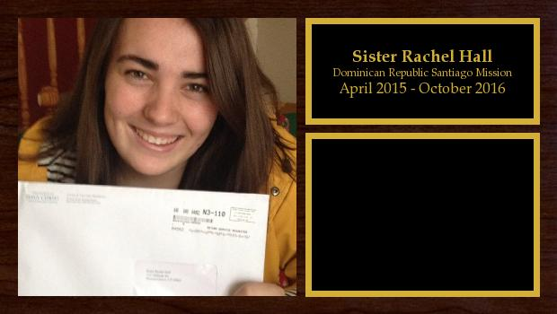 April 2015 to October 2016<br/>Sister Rachel Hall