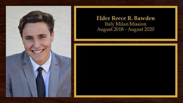 August 2018 to March 2020<br/>Elder Reece R. Bawden