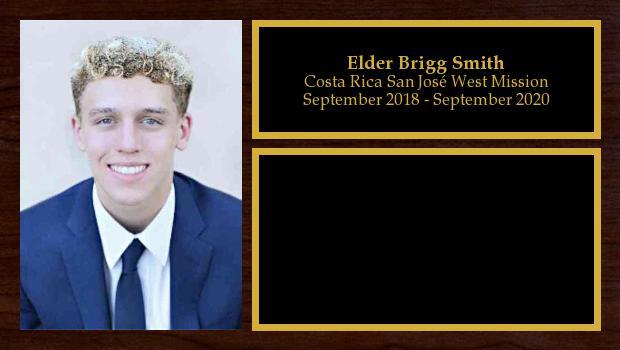 September 2018 to May 2019<br/>Elder Brigg Smith