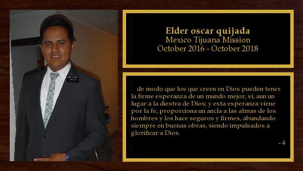 October 2016 to October 2018<br/>Elder quijada .