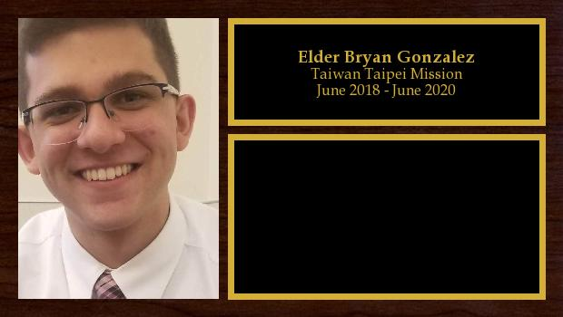 June 2018 to June 2020<br/>Elder Bryan Gonzalez