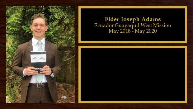 May 2018 to May 2020<br/>Elder Joseph Adams