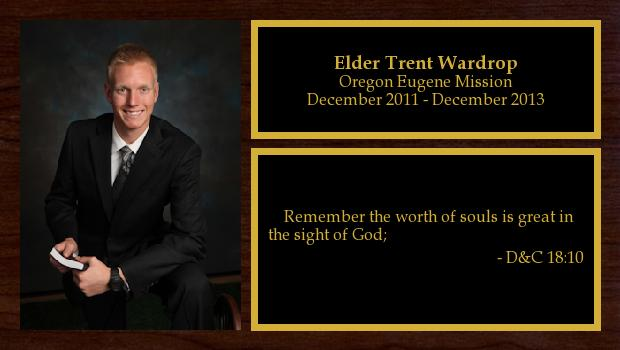 December 2011 to December 2013<br/>Elder Trent Wardrop