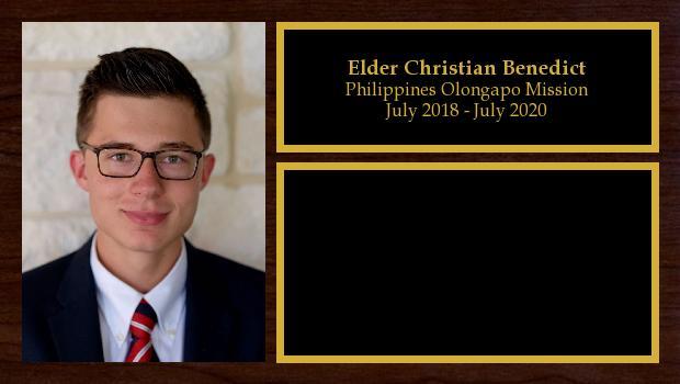 July 2018 to June 2020<br/>Elder Christian Benedict