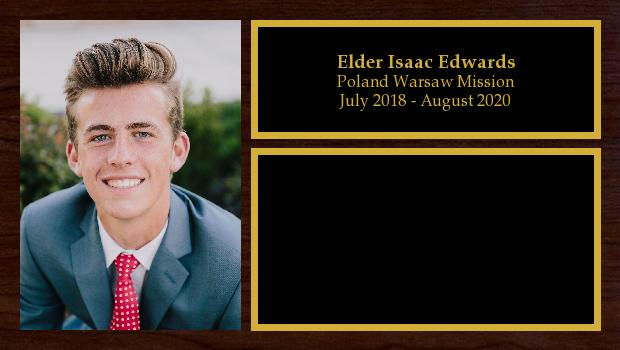 July 2018 to July 2020<br/>Elder Isaac Edwards