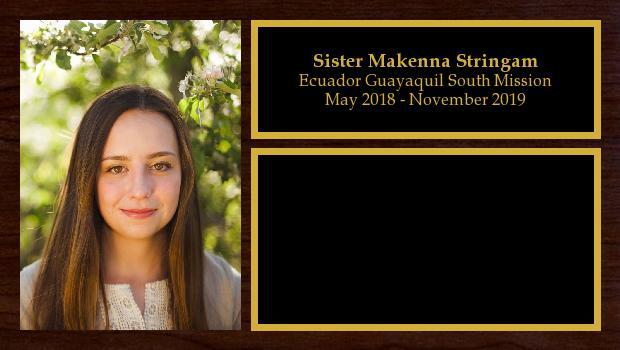 May 2018 to November 2019<br/>Sister Makenna Stringam