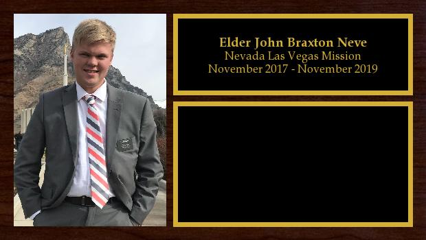 November 2017 to November 2019<br/>Elder John Braxton Neve