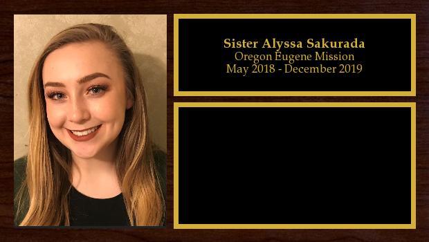 May 2018 to December 2019<br/>Sister Alyssa Sakurada
