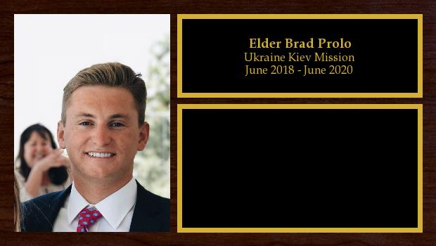 June 2018 to June 2020<br/>Elder Brad Prolo