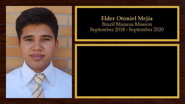 September 2018 to September 2020<br/>Elder Otoniel Mejía