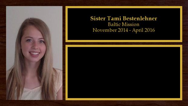 November 2014 to April 2016<br/>Sister Halli Bestenlehner