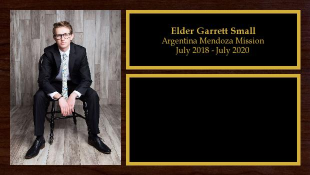 July 2018 to July 2020<br/>Elder Garrett Small