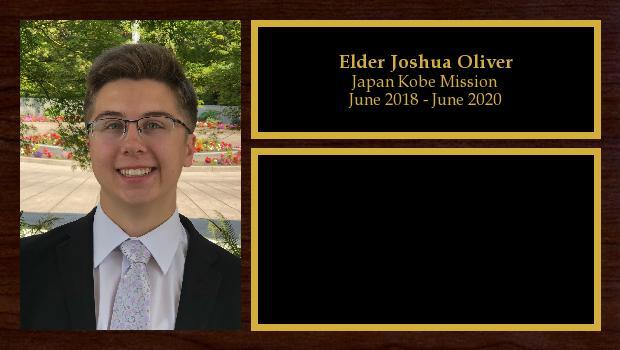 June 2018 to June 2020<br/>Elder Joshua Oliver