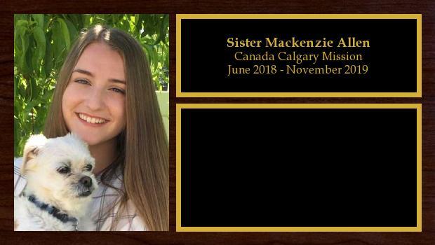 June 2018 to November 2019<br/>Sister Mackenzie Allen