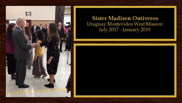 July 2017 to January 2019<br/>Sister Madisen Ontiveros