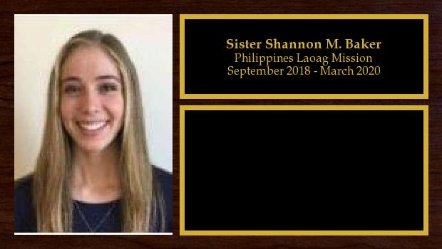 September 2018 to March 2020<br/>Sister Shannon M. Baker